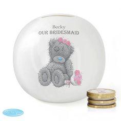 Personalised 'Tatty Teddy' Me To You Wedding Money Box - Girl