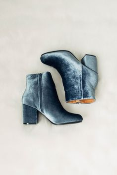 Velvet Booties by Copper Theory