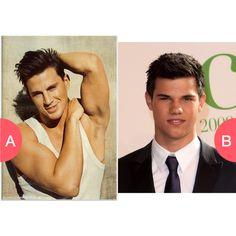 Channing Tatum or Jacob Black Click here to vote @ http://getwishboneapp.com/share/3997534