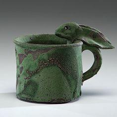 Ken Ferguson (1938-2004, USA)                           Hare Cup 2001 Stoneware, ht. 5.5, wd. 7 in. http://www.cullowheemountainarts.org/2014-workshop-calendar#sthash.lyYnLsRF.dpbs Take a ceramics workshop at Cullowhee Mountain Arts summer 2014.
