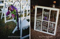 Wine Barn Wedding ceremony decor and bar list