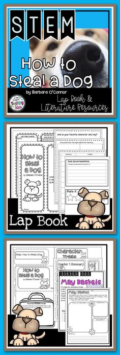 ⭐️If you read How to Steal a Dog this is the resource for you! Connecting STEM with a Great Book: How to Steal a Dog Lap Book and STEM Challenge is a packet of worksheets that your students will love and be engaged in while reading the novel. Students will complete a STEM challenge of creating a May Basket and resources that can be used in a reading journal or a create a Lapbook.