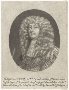Abraham Bloteling | Portret van Henry Bennett, graaf van Arlington, Abraham Bloteling, 1652 - 1690 | Portret van Henry Bennett, 1ste graaf van Arlington. Hij was minister onder koning Karel II van Engeland.