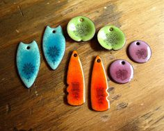 Cinnamon Jewellery: Enamel Decal Experiments..........And Mistakes