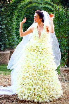vestido de azucenas