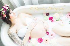 Milk Bath Maternity Session, Milk Bath Photography Seattle Maternity Milk Bath Photography - Kamikay Photography