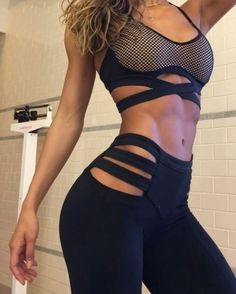SEXY BLACK WORKOUT CLOTHING MODELED By Ripped Curvy Instagram Fitness Model : Health Exercise #Fitspiration #Fitspo FitFam Crossfit Girls on Instagram - #Motivational Workout and Weight Training Pins by: CageCult