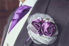 Superman buttonhole with fabric roses