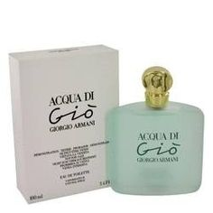 Acqua Di Gio Eau De Toilette Spray (Tester) By Giorgio Armani. Acqua Di Gio Perfume by Giorgio Armani, Acqua di gio, a blend of warm, transparent flowers touched by an ocean breeze. Inspired by a mediterranean island refuge, it captures the essence of paradise.