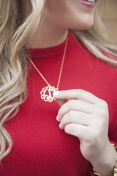 I want this for my birthday. Monogram necklace on etsy. Silver. Not too big, not too small.