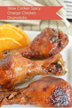 Slow Cooker Spicy Orange Chicken Drumsticks | Delicious Recipes Ideas Slow Cooker Soup, Slow Cooker Chicken, Slow Cooker Recipes, Chicken Drumstick Recipes, Chicken Parmesan Recipes, Good Food, Yummy Food, Chicken Drumsticks, Orange Chicken