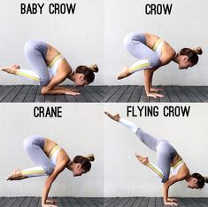 Yoga Asana * From Baby Crow to Flying Crow
