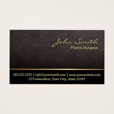 Darker Leather Plastic Surgeon Business Card