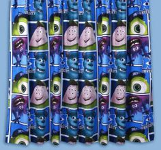 """PICKUP OR POSTAGE AVAILABLE   Disney Pixar Monsters University ready made curtains.      66"""" x 72"""" (W x L)      Machine washable.      Matching bedroom products also available in this range.             Type: Tape Top       Tie-backs: No       Material: Polyester Microfibre THIN       Curtain Size (W x L):  66 Inches x 72 Inches (168cm x 18…"""