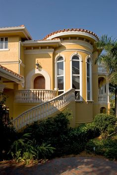Best Yellow Stucco House With Red Tile Roof In Orlando Stucco 400 x 300