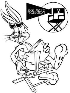 Bugs Bunny Is An Adorable Cartoon Character Created By Warner Brothers Children Of All Age Groups Love Coloring Pages And Sheets Ar