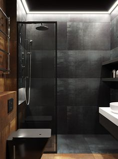 This seems to be so excellent Bathroom Wetroom Small Dark Bathroom, Dark Bathrooms, Bathroom Red, Rustic Bathrooms, Bathroom Layout, Amazing Bathrooms, Small Luxury Bathrooms, Brick Bathroom, Luxurious Bathrooms