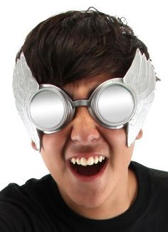 Elope Men's Thor Winged Goggles, Silver, One Size  Price : $14.29 http://www.thinkfasttoys.com/Elope-Mens-Winged-Goggles-Silver/dp/B007AD8XG8