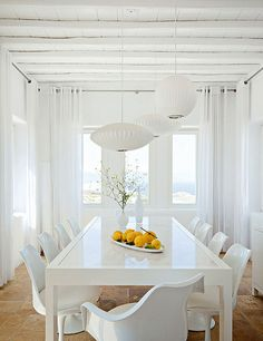 Dining room!  a stylish house on mykonos, greece by the style files, via Flickr