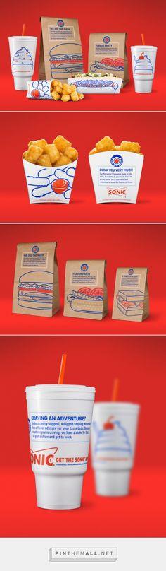 Creative Agency: Sullivan Higdon & Sink Creative D Food Branding, Logo Food, Food Packaging, Packaging Design, Sonic Drive In, Baked Fish Fillet, Herb Stuffing, Soft Chocolate Chip Cookies, Food Gallery