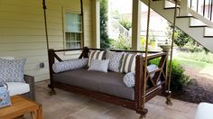 LOVE, but would also need to make a pergola or arbor to hang the swing from to make it portable if I moved :)