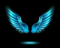 Photo about Blue glowing angel wings with metal shine and shadow symbol vector illustration. Illustration of glow, symbol, angel - 39494816 Background Wallpaper For Photoshop, Blur Image Background, Desktop Background Pictures, Blur Background Photography, Banner Background Images, Studio Background Images, Background Images For Editing, Wings Wallpaper, Png Images For Editing