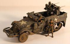 TAMIYA WWII US M3 HALF TRACK 1/35 SCALE VTG BUILT MODELKIT,ITALERI,DRAGON #TAMIYA