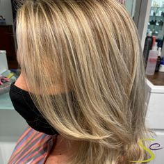 Masks won't stop our clients from getting rid of that quarantine hair and rocking their new look! This beautiful full foil and haircut on our client was done by our master colorist Maria. Aveda Spa, Aveda Salon, Aveda Hair Color, Salon Services, Body Wraps, Spa Gifts, Manicure And Pedicure, New Look, Rid