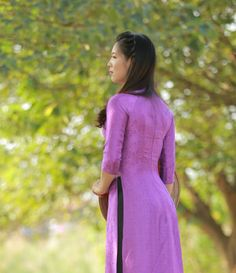 Ao Dai Vietnam Natural Silkworm Custom Made