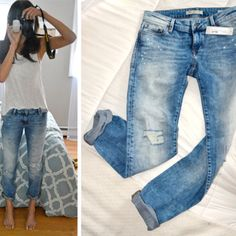Similar jeans for less- https://gritandglamboutique.com/collections/bottoms/products/harlow-boyfriend-ripped-jeans-dark-wash