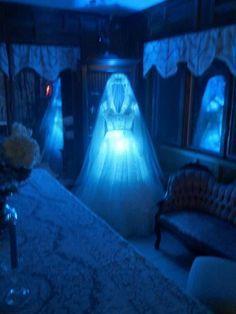 Haunted Bride Halloween Display. Constance Hatchaway.