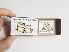 Witty Valentine Card /Cute Anniversary card/Cat Lover Card/Surprise Anniversary Gift/ Wouldn't it be nice/ If we grew older together/ Small Gifts For Boyfriend, Coupons For Boyfriend, Cards For Boyfriend, Matchbox Crafts, Matchbox Art, I Miss You Card, Cute Valentines Card, Funny Love Cards, Cute Surprises