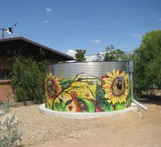 Rainwater Harvesting Systems & Water Tank Photos | Metal Water Tanks