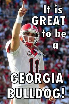 My boys are big fans of UGA and the Bulldogs.