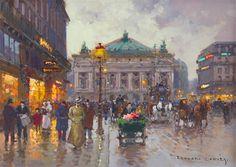 Edouard Leon Cortes, (French, 1882-1969), Place de L'Opera  | American and European Art | December 14, 2015