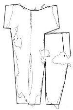 Fragment 57 sleeve from overtunic Haithabu harbour Viking Art, Viking Woman, Historical Women, Historical Clothing, Historical Photos, Clothing And Textile, Clothing Patterns, Danish Vikings, Norwegian Vikings