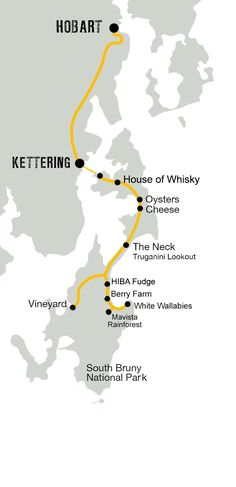 Bruny Island Traveller Map