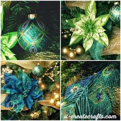 Christmas Tree Inspiration - Peacock Theme
