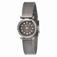 Skagen Crystal Ladies Watch 107XSMM1 Skagen. $69.00. Brown Coated Stainless Steel Bracelet. Brown Dial. 3 ATM/ 30 Meters/ 100 Feet Water Resistant. Hour, Minute Functions. Save 40%!