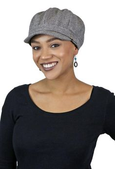 d0982e1881830 Baker Street Tweed Newsboy Cap for Women. Perfect chemo hat, fully lined,  full