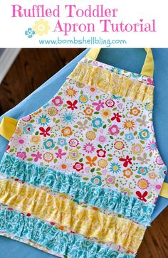 Toddler Ruffle Apron Tutorial from Bombshell Bling. Too cute!!