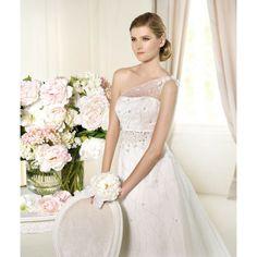 Empire A-line One Shoulder Beading Brush Train Wedding Dresses - Wedding Dresses