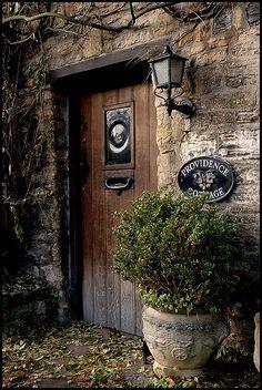 Providence Cottage - big rondel in the middle? Witch Cottage, Cottage Door, Monuments, Cool Doors, Vintage Doors, Door Knockers, Architectural Elements, Closed Doors, Doorway