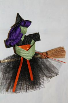 ||| ribbon, sculpture, art, doll, hair, clip, band, barrette, pin, accessory, bow, witch, Halloween, Samhain