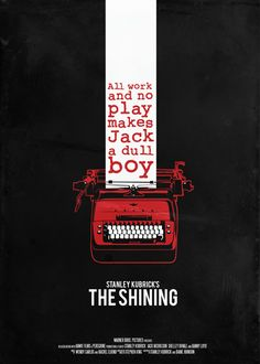 The Shining- Hmm Jack Nicholson losin his mind, ghosts of murdered children, a strung out wife and a telepathic kid all together in an isolated hotel, during the dead of winter. What could possibly go wrong?