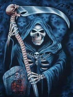 The grim reaper is a creator__The grim reaper is very powerful_his elements are Earth and air or wind .Dark and mabey light _ most dark.element.