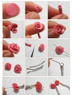 Easy Clay Rose Beads Earring - Earring Projects - Beads.How
