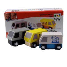 Wooden Toy Delivery Vans