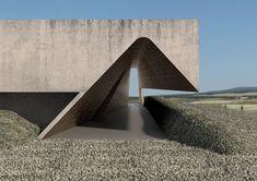 The sketch. Concrete Architecture, Landscape Architecture, Interior Architecture, Conceptual Architecture, Minimalist Architecture, Amazing Architecture, Architecture Details, Arch Building, Building Design