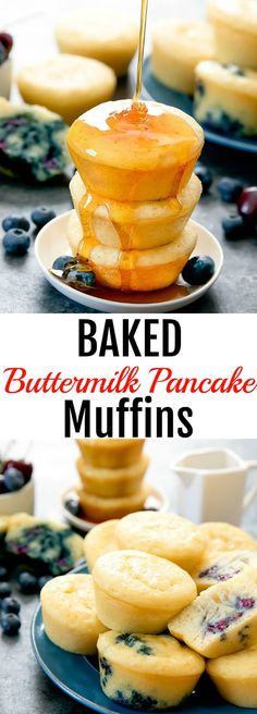 Buttermilk Pancake Muffins - Desserts that won't kill your diet -Baked Buttermilk Pancake Muffins - Desserts that won't kill your diet - Buttermilk Pancakes Easy, Baked Pancakes, Pancake Muffins, Pancakes And Waffles, Muffin Recipes, Brunch Recipes, Pancake Recipes, Bread Recipes, Yummy Recipes